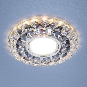 Встраиваемый светильник Elektrostandard 2170 MR16 SBK CL дымчатый прозрачный