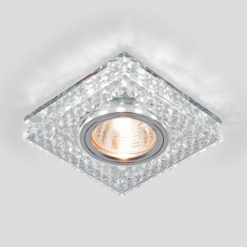 Встраиваемый светильник Elektrostandard 8391 MR16 CL/SL прозрачный/серебро