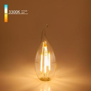 Лампа светодиодная Elektrostandard Bl130 E14 7Вт 3300K Свеча на ветру BL130 7W 3300K E14 (CW35 прозрачный)