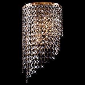 Накладной светильник Eurosvet 3102 3102/2 золото/прозрачный хрусталь Strotskis