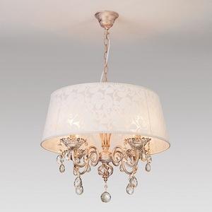 Подвесной светильник Eurosvet 10008 10008/4 белый с золотом/тонированный хрусталь Strotskis