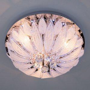 Люстра потолочная с хрусталем 80013/8 хром/белый