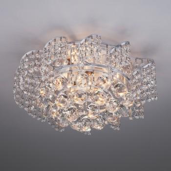 Накладной светильник Eurosvet Charm 16017/6 белый с серебром Strotskis
