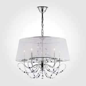 Подвесной светильник Eurosvet 10068 10068/5 хром/прозрачный хрусталь Strotskis