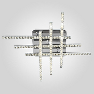 Светодиодный потолочный светильник с хрусталем 90041/6 хром