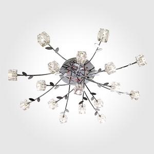 Люстра потолочная со светодиодной подсветкой 80108/17 хром