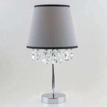 Настольная лампа декоративная Opera 01036/1 хром/прозрачный хрусталь Strotskis