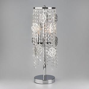 Настольная лампа декоративная Flower 01035/2 хром/прозрачный хрусталь Strotskis