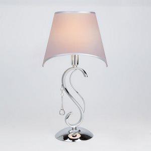Настольная лампа декоративная Kelly 01053/1 хром/прозрачный хрусталь Strotskis