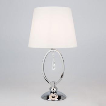 Настольная лампа декоративная Madera 01055/1 хром/прозрачный хрусталь Strotskis
