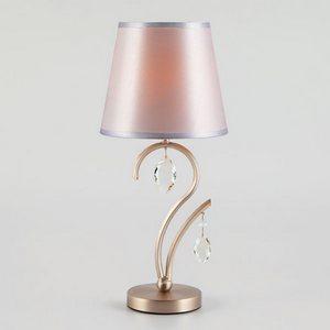 Настольная лампа декоративная Eurosvet Aurelia 01059/1 сатин-никель/прозрачный хрусталь Strotskis