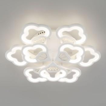 Потолочная люстра Eurosvet Arctic 90141/9 белый 80W