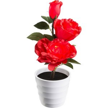 Настольная лампа декоративная Роза тройная