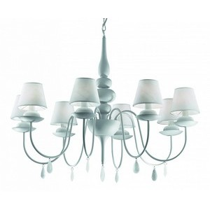 Подвесная люстра Ideal Lux Blanche BLANCHE SP8 BIANCO