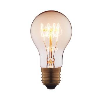 Лампа накаливания E27 60W груша прозрачная 1004-SC