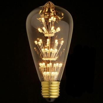Лампа светодиодная филаментная E27 3W прозрачная ST64-47LED