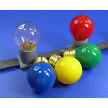 Лампа накаливания E27 10Вт красная 401-112