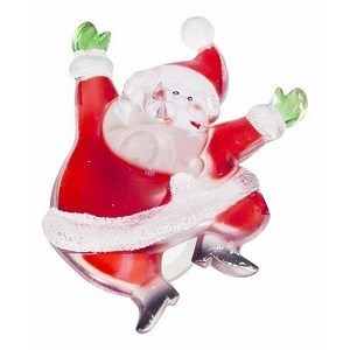 Панно световое (8.5x6.5 см) Санта Клаус 501-023