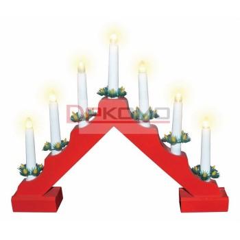 Композиция световая (28х37 см) Новогодняя горка 501-082