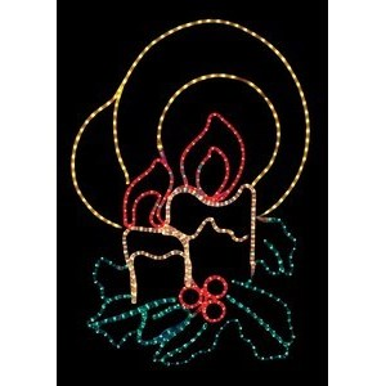Панно световое (75x10 см) Две свечи NN-501 501-320