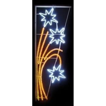 Панно световое (1.75x0.85 м) Звездный фейерверк 501-336