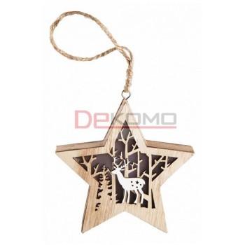 Звезда световая (13х3.6х24 см) Звездочка 504-022