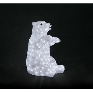 Зверь световой (53 см) Белый медведь NN-513 513-249