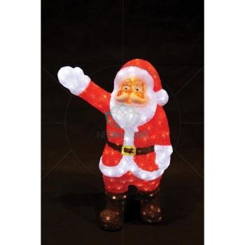 Дед Мороз световой (60 см) Санта Клаус приветствует 513-272