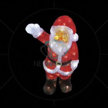 Дед Мороз световой (30 см) Санта Клаус приветствует 513-273