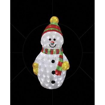 Снеговик световой (60 см) с шарфом 513-274