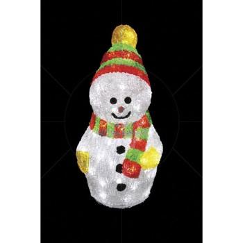 Снеговик световой (30 см) с шарфом 513-275