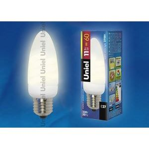 Лампа компактная люминесцентная 769 E27 11Вт В 2700 K свеча матовая