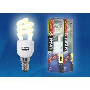 Лампа компактная люминесцентная 772 E14 9Вт В 2700 K винтовая трубка