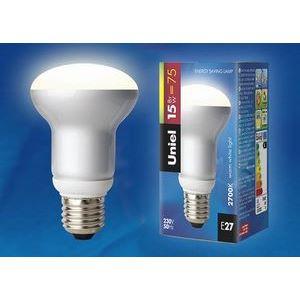Лампа компактная люминесцентная 798 E27 15Вт В 2700 K груша плоская матовая с рефлектором