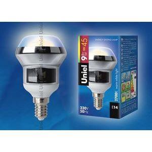 Лампа компактная люминесцентная 872 E14 9Вт В 2700 K груша плоская с рефлектором