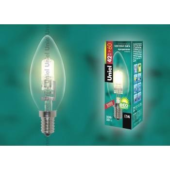 Лампа галогеновая 1077 E14 42Вт 230В  свеча