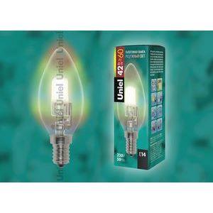 Лампа галогеновая 1089 E14 42Вт 230В  свеча