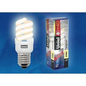 Лампа компактная люминесцентная 1155 E27 8Вт В 2700 K винтовая трубка