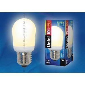 Лампа компактная люминесцентная 1387 E27 10Вт В 2700 K груша круглая матовая