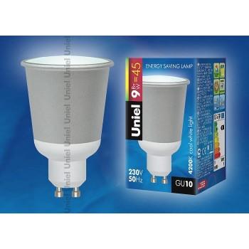 Лампа компактная люминесцентная 2953 GU10 9Вт В 4200 K полусферическая матовая с рефлектором