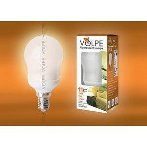 Лампа компактная люминесцентная 3643 E14 11Вт В 2700 K груша круглая матовая