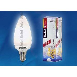 Лампа компактная люминесцентная 3848 E14 9Вт В 4200 K свеча матовая шишка
