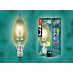 Лампа галогеновая 4115 E14 42Вт 230В  свеча шишка