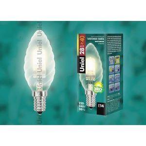 Лампа галогеновая 4116 E14 28Вт 230В  свеча матовая шишка