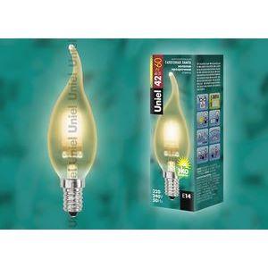 Лампа галогеновая 4121 E14 42Вт 230В  свеча на ветру