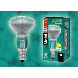 Лампа галогеновая 4122 E14 28Вт 230В  груша плоская с рефлектором