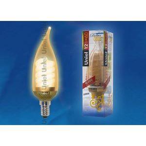 Лампа компактная люминесцентная 4420 E14 12Вт В  свеча на ветру