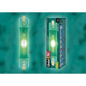 Лампа галогеновая MH-DE-70/GREEN/R7s картон 4848