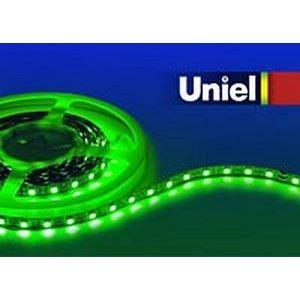 Лента светодиодная ULS-5050-60LED/m-10mm-IP20-DC24V-14,4W/m-5M-GREEN катушка в герметичной упаковке 4929