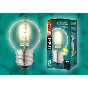 Лампа галогеновая HCL-28/CL/E27 globe 5217